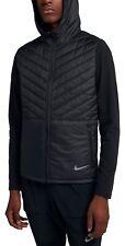 Nike Men's AeroLayer Hooded Running Jacket AH0544-010 Blk Puffy Lightweight Sz M