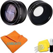 58MM 2x TELEPHOTO +FISHEYE + MACRO + CLEANING KIT FOR CANON EOS REBEL T6 T