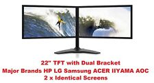 "Cheap Dual TFT 24"" Screen COMPUTER PC LAPTOP MONITOR VGA FLAT SCREEN"