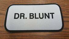 Unused Dr Blunt Iron on Black White Patch Marijuana Funny Gag Gift