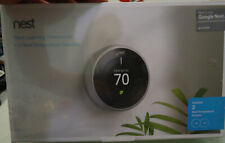 Nest Thermostat 3rd Gen in Stainless Steel +2 x Google Nest Temperature Sensors