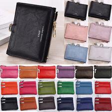 Women Short PU Leather Wallet Zip Money Mini Card Coin Purse Holder Pocket Bag