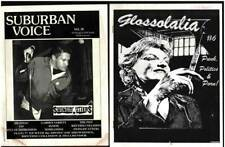 Scace Fanzines GLOSSOLALIA #6 Punk POLITICS Porn & SUBURBAN VOICE #38 Music 90's