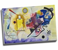 """Wassily Kandinsky Yellow Red Blue Canvas Print Modern Abstract Large A1 30x20"""""""