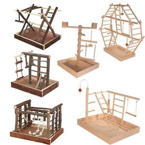 TRIXIE Spielplatz Holz Spielzeug für Vögel Tau Naturspielzeug Vögelspielzeug