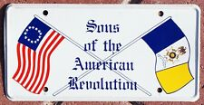 SONS OF THE AMERICAN REVOLUTION -- SAR -- LICENSE PLATE BOOSTER TAG