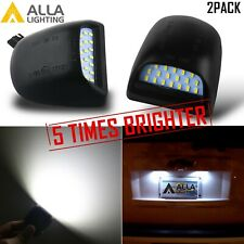 2 Xenon White LED License Plate Tag Lamp Assembly Replacement Silverado Trucks