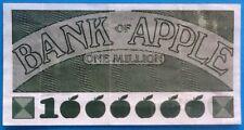 Beatles Apple Original Promotional Bank of Apple One Million Bank Note 1000000