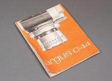 Argus C-44 C44 35mm Camera Owners' Manual - 1956 - Original Copy