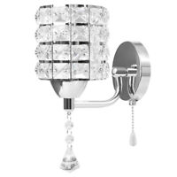 Modern Decorative LED Crystal Wall Light Sconce Bedroom Hallway Wall Lamp Silver