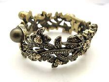 Heidi Daus Swarovski Crystal Studded Flower Vine  Bangle Bracelet 81.7g #3778