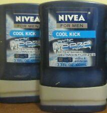 2x NIVEA MEN COOL KICK ARCTIC FREEZE 2 IN 1 AFTER SHAVE GEL & MOISTURIZER 3.3 OZ