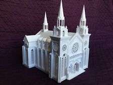 Miniature HO Scale Gothic Church Cathedral With Interiors Ready Built