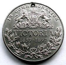 VICTORIA REGINA ET IMPERATRIX 1837-97 Commemorative Medal 39mm 20g Tin R1.1