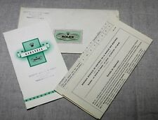Rolex Certificate Warranty Guarantee BUREAUX SUISSE Chronometres 100% Original