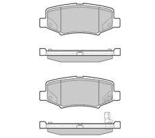 KIT PASTIGLIE FRENI ANTERIORI DODGE NITRO /'07-/> 2.8 CRD 4WD 130 KW 177 CV