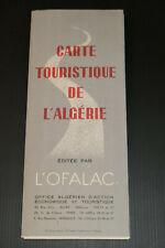 ANCIENNE CARTE TOURISTIQUE DE L'ALGERIE OFALAC 1954 VOYAGE TOURISME AFRIQUE