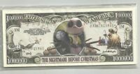Nightmare Before Christmas Million Dollar Bill Fun Money Novelty Notes Lot of 25