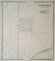 Antique 1872 Map of Lincoln Sussex County Delaware Town Map