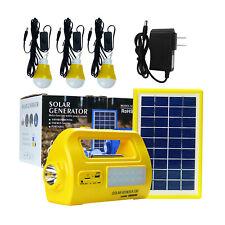 Solar Generator Portable Lighting Kit Power Bank Solar Panel LED Music Radio