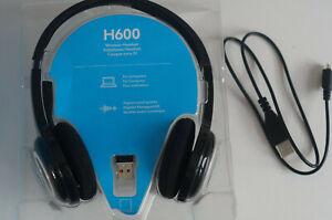 Logitech H600 Schwarz/Blau Kopfbügel Headset für PC