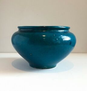 Antique Turquoise Bowl, Chinese or Middle Eastern ex collection