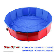 """2 Size Pet Swimming Pool Portable Foldable Dogs Cats Bathing Tub 12"""" x 39""""/63"""""""