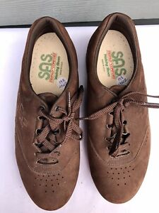 SAS Free Time Women Brown Suede Leather Walking Shoes Size US 8 W W