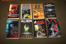 Lot of 8 Science Fiction Movie Pbs - Star Wars, E.T., Total Recall, Alien, T3 +
