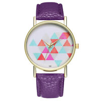 Woman Fashion Leather Band Analog Quartz Multicolor Wrist Watch Watches