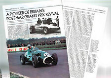 Old CONNAUGHT (UK) GP Formula 1 Article / Photos / Pictures