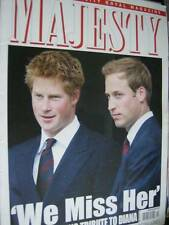 Majesty Magazine V28 #10 William & Harry Tribute To Diana/Duke of York's Role/Ro