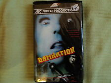 "RARE! VHS ""DAMNATION"" Carolyn COURAGE, James AUBREY, Sarah KELLER, John NOLAN"