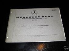 Teilekatalog Mercedes L 206 / 207 / 306 / 307 von 1972
