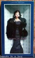 "Givenchy Designer Barbie Doll in Jet-black faux fur stole """