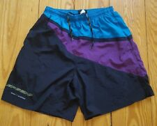 Vintage Speedo Sport Systems Multicolor  Water Shorts Size Large 90's EUC.