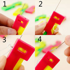 3PCS Automatic Sewing Needle Device Threader Thread Elderly Easy Use Guide Tool