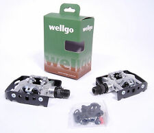 WELLGO PLATFORM/CLIPLESS DUAL PEDALS W/SHIMANO SPD CLEATS