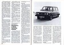 Volvo 66 Press Reviews 1976 UK Market Sales Brochure GL Saloon Estate