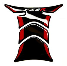 Piano Black +RED tank Protector pad Decal Sticker trim fits for Yamaha FZ6R