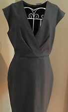 NWT J Crew Women's 4P Super 120's Wool V-Neck Dress Gray $178 #F6094 Fall 2016