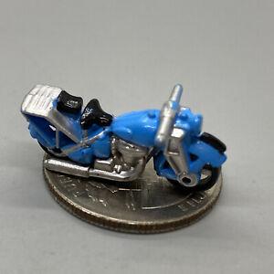 Micro Machines Triumph 350 Moto #49 Chaud Vélos II Bleu/Gris, 1989 Galoob