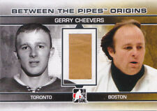 09-10 ITG Gerry Cheevers /40 PAD Origins Between The Pipes Bruins 2009