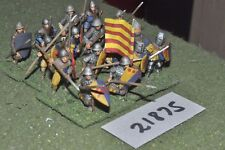 25mm medieval / english - spearmen 16 figs infantry - inf (21875)