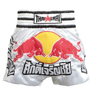 THAISMAI Kick pants (Red Bull) FREE Shipping from JPN Muay Thai For Kids adults
