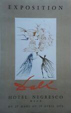 """""""DALI : EXPOSITION HÔTEL NEGRESCO 1970"""" Affiche originale entoilée"""