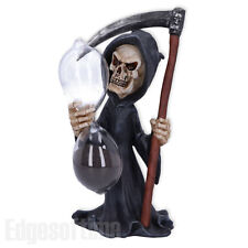 More details for grim reaper out of time sand timer hour glass clock gothic fantasy figurine 20cm