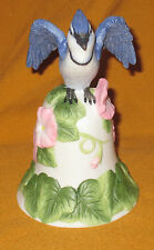 Avon Fine Collectibles Blue Jay And Flower Bell (New In Box!)