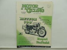 August 1953 MOTORCYCLING Magazine Royal Enfield Meteor 700 Triumph BSA L8461
