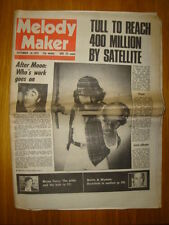 MELODY MAKER 1978 SEP 16 JETHRO TULL WHO MOON DIES RIP
